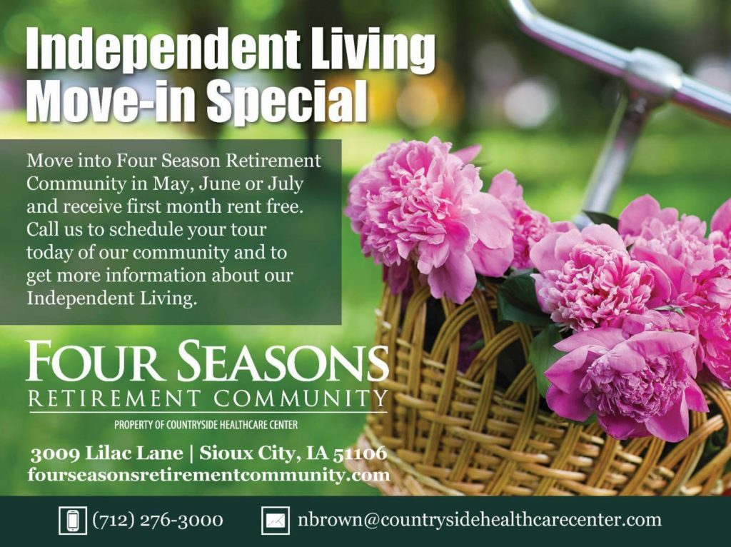 Sioux City, IA Independent Living Move-In Special Promotion