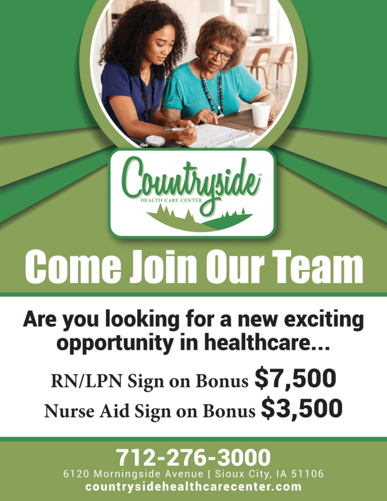 Countryside Health Care Center Now Hiring